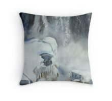 "Robin Webster's Snow Scene... ""Niagara Falls Ontario, Canada."" Throw Pillow"