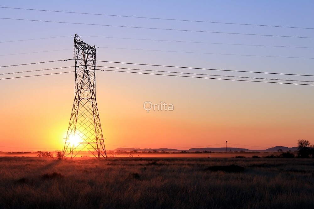 Pylon at sunset... by Qnita