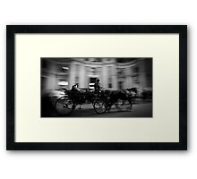 Horse and Carriage in Vienna, Austria Framed Print