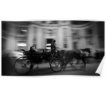 Horse and Carriage in Vienna, Austria Poster
