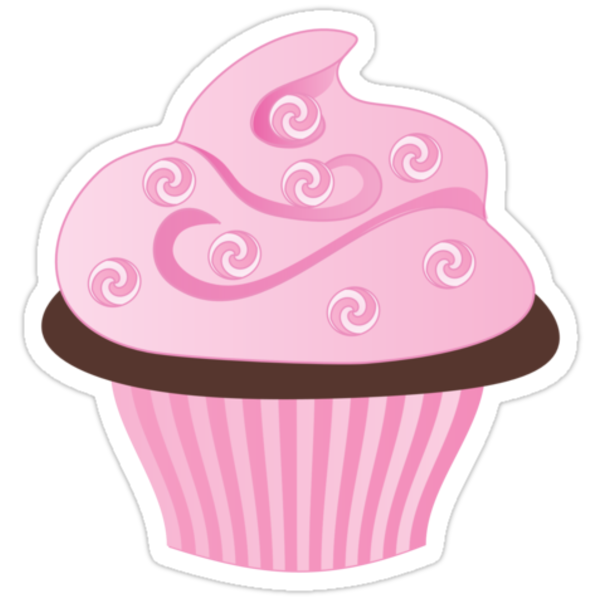 Pink Cupcake with Swirl Sprinkles by trennea