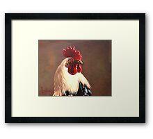 Rooster - Portrait Framed Print