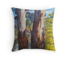 Golden Wattle Country Throw Pillow