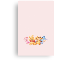 Winnie and friends Canvas Print
