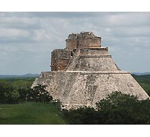 Mayan Pyramid, Uxmal Photographic Print