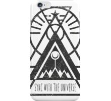 Sync with the Universe - Typography and Geometry iPhone Case/Skin