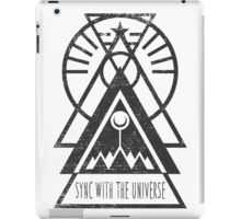 Sync with the Universe - Typography and Geometry iPad Case/Skin