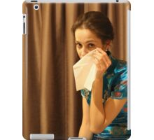 Woman with tissue iPad Case/Skin