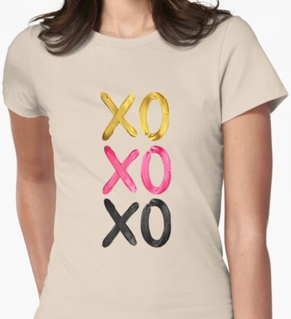 Glamorous XO's  Womens Fitted T-Shirt