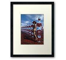 Getting Out of Line Framed Print