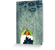 Oh! Raining Night Greeting Card