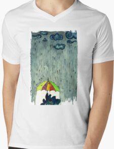 Oh! Raining Night Mens V-Neck T-Shirt