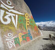 Lhasa Valley, Tibet by Hugh Chaffey-Millar