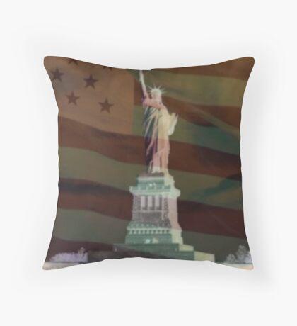 America 2 Throw Pillow