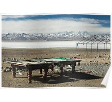 Pool at Lake Nam-Tso, Tibet Poster