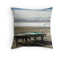 Pool at Lake Nam-Tso, Tibet Throw Pillow