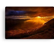 Rain falling on the road to Delphi Canvas Print