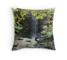 Stone Waterfall Throw Pillow