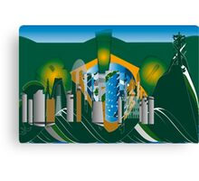 abstract Rio skyline Canvas Print