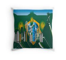 abstract Rio skyline Throw Pillow