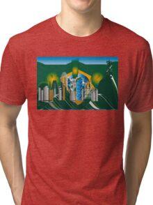 abstract Rio skyline Tri-blend T-Shirt