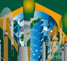 abstract Rio skyline Sticker