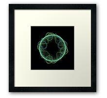 Fractal - 0008 - The Green Framed Print