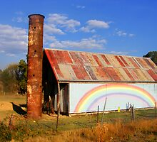 rainbow shed  by Peta Hurley-Hill