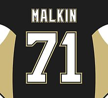 Pittsburgh Penguins Evgeni Malkin Jersey Back Phone Case by Russ Jericho