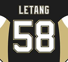 Pittsburgh Penguins Kris Letang Jersey Back Phone Case by Russ Jericho