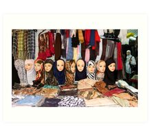 Last fashion: Arab head  Art Print
