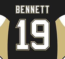 Pittsburgh Penguins Beau Bennett Jersey Back Phone Case by Russ Jericho