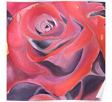 Rose Red Valentine Heart Poster