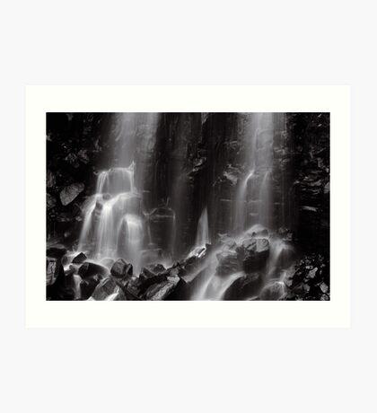 Mungalli Falls in Black & White Art Print
