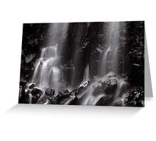 Mungalli Falls in Black & White Greeting Card
