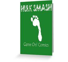 Hulk Smash Footprint Greeting Card