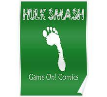 Hulk Smash Footprint Poster