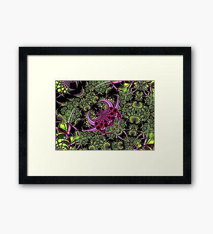 Fractal Insect Framed Print