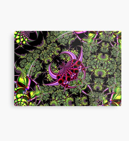 Fractal Insect Metal Print