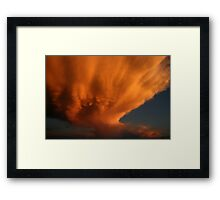 Wow! Check This Cloud!!  (A Dying Mammatus cloud) Free State, South Africa Framed Print
