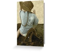 Too young to be a cowboy... Free State, South Africa Greeting Card