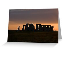 Stone Henge Greeting Card