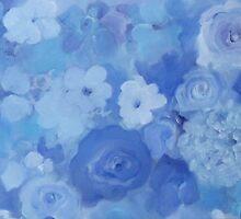 Comfort Blue Floral by DocSusan