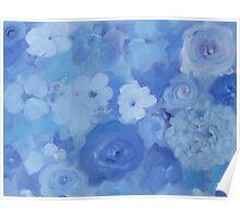 Comfort Blue Floral Poster