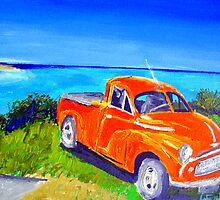 A classic ..Morris Minor at Cabarita  by gillsart