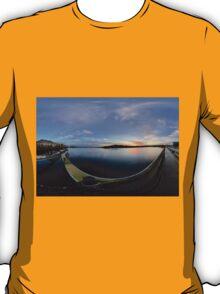 Dawn Calm at Foyle Marina - Rectangular T-Shirt