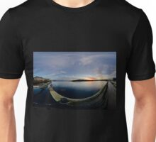 Dawn Calm at Foyle Marina, Derry, N.Ireland Unisex T-Shirt