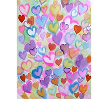 Spring Convention of Hearts Photographic Print