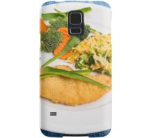Colorful Meal of Chicken Rice and Vegetables Samsung Galaxy Case/Skin