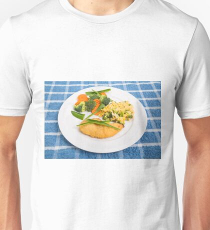 Colorful Meal of Chicken Rice and Vegetables Unisex T-Shirt